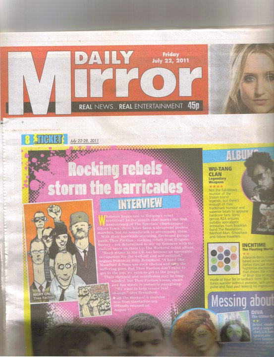 Thee Faction in the Daily Mirror